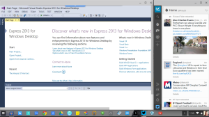 Microsoft Visual Studio Express 2013 Windows Desktop Edition running on Chrome OS via Chrome Remote Desktop